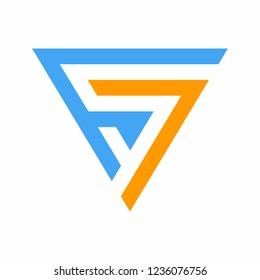 S7 or 7S Initial Logo Design Vector