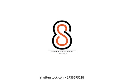 S8 8S S AND 8 Abstract initial monogram letter alphabet logo design