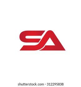 SA company linked letter logo