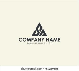 SA initial triangle logo design