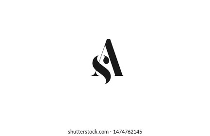 SA Letter Logo Design with Creative Modern Trendy Typography and Black Colors.