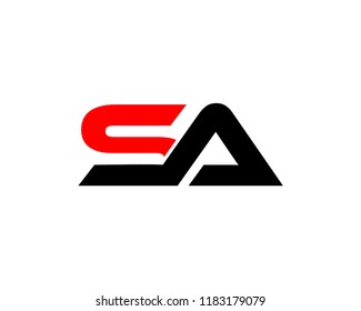 SA Letter Logo Design Template Vector