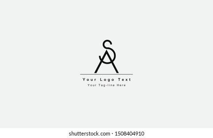 AS or SA letter logo. Unique attractive creative modern initial AS SA A S initial based letter icon logo