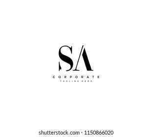 SA Letter Monogram Logotype