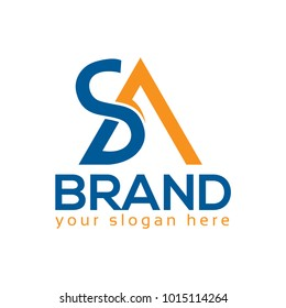 SA, Letter S and A, Logo Design Element