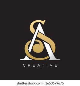 sa logo design luxury icon