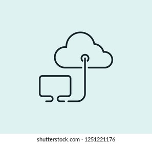 Saas icon line isolated on clean background. Saas icon concept drawing icon line in modern style. Vector illustration for your web mobile logo app UI design.