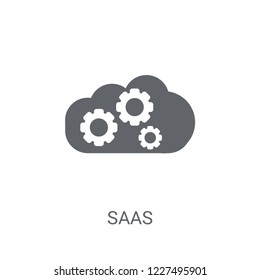 saas icon. Trendy saas logo concept on white background from General collection. Suitable for use on web apps, mobile apps and print media.