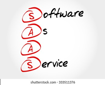 SAAS - Software As A Service, acronym business concept