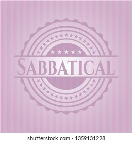 Sabbatical badge with pink background