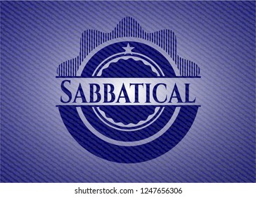Sabbatical emblem with jean background