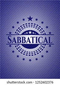 Sabbatical emblem with jean high quality background