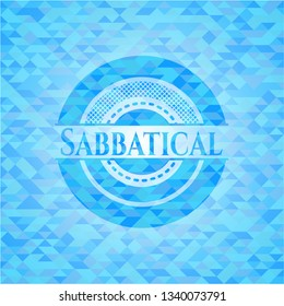 Sabbatical realistic light blue mosaic emblem
