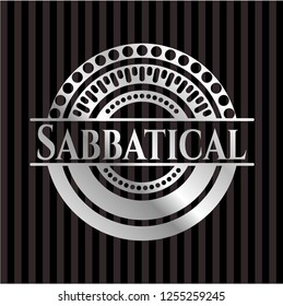 Sabbatical silver emblem or badge