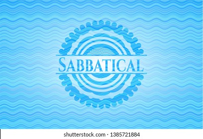 Sabbatical water wave representation style emblem. Vector Illustration. Detailed.