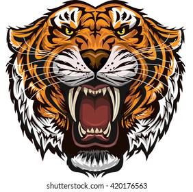 b33fb36c2 Tiger Teeth Images, Stock Photos & Vectors | Shutterstock