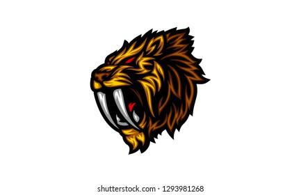 Sabertooth Lion E-Sport Logo