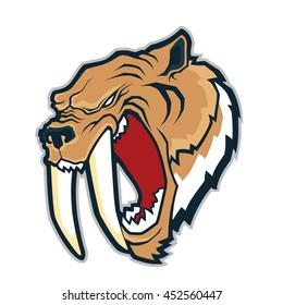 Sabertooth tiger mascot