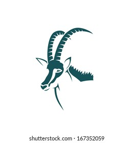 Sable antelope - vector illustration