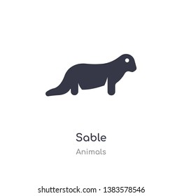 sable icon. isolated sable icon vector illustration from animals collection. editable sing symbol can be use for web site and mobile app