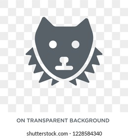 Sable icon. Trendy flat vector Sable icon on transparent background from animals  collection.