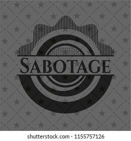 Sabotage black emblem. Vintage.
