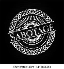 Sabotage with chalkboard texture