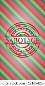 Sabotage christmas emblem.