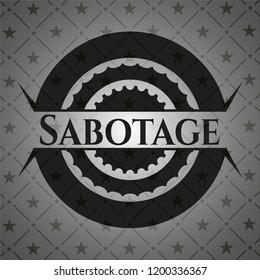 Sabotage dark emblem. Retro