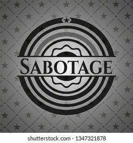 Sabotage dark icon or emblem
