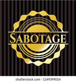 Sabotage gold emblem or badge