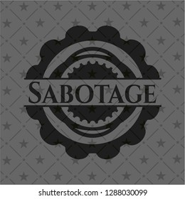 Sabotage realistic dark emblem