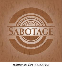 Sabotage realistic wood emblem