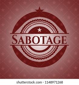 Sabotage retro red emblem