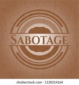 Sabotage wood emblem