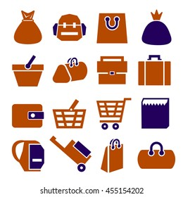 sack, bag icon set