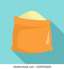 Sack of flour icon. Flat illustration of sack of flour vector icon for web design