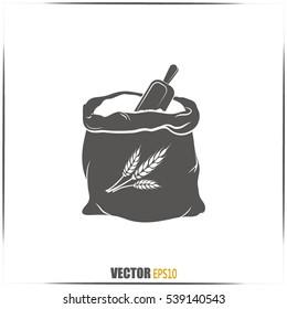 Sack of flour.Vector icon.