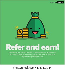 Sack Full of Money with Refer and Earn