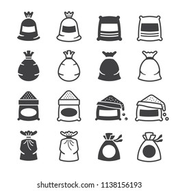 Sack icon set