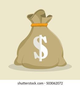 sack money dollar save icon