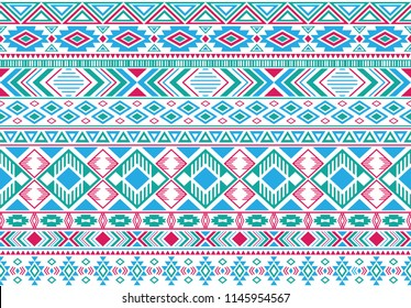 Sacral tribal ethnic motifs geometric vector background. Abstract gypsy geometric shapes sprites tribal motifs clothing fabric textile print traditional design with triangles