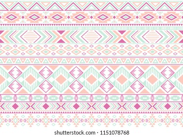 Sacral tribal ethnic motifs geometric seamless background. Cute geometric shapes sprites tribal motifs clothing fabric textile print traditional design with triangles