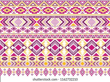 Sacral tribal ethnic motifs geometric vector background. Eclectic gypsy geometric shapes sprites tribal motifs clothing fabric textile print traditional design with triangles