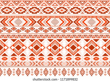 Sacral tribal ethnic motifs geometric seamless background. Cool gypsy tribal motifs clothing fabric textile print traditional design with triangles