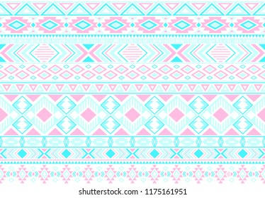 Sacral tribal ethnic motifs geometric seamless background. Eclectic gypsy tribal motifs clothing fabric textile print traditional design with triangles