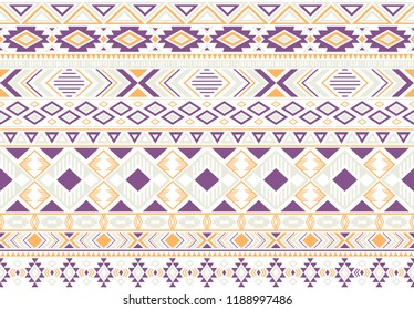 Sacral tribal ethnic motifs geometric seamless background. Beautiful gypsy geometric shapes sprites tribal motifs clothing fabric textile print traditional design with triangles