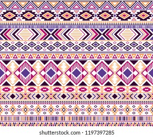 Sacral tribal ethnic motifs geometric vector background. Beautiful gypsy geometric shapes sprites tribal motifs clothing fabric textile print traditional design with triangles