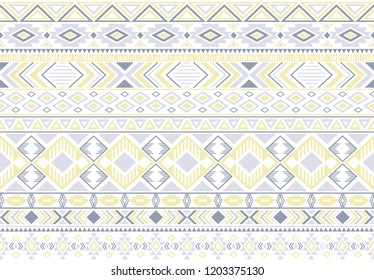 Sacral tribal ethnic motifs geometric seamless background. Impressive gypsy geometric shapes sprites tribal motifs clothing fabric textile print traditional design with triangles