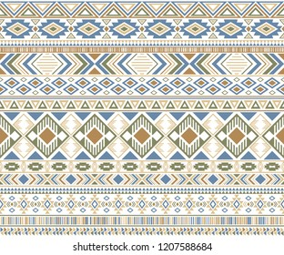 Sacral tribal ethnic motifs geometric seamless background. Unusual geometric shapes sprites tribal motifs clothing fabric textile print traditional design with triangles